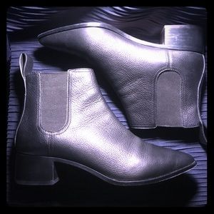 Roeffler Randall Pebbled leather ankle boots - 9